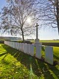 Brittisk krigkyrkogård WW1 Arkivfoton