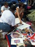 brittisk kunglig person för samlingsdynastiventilator Arkivbild