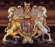 Brittisk kunglig vapensköld Arkivfoto