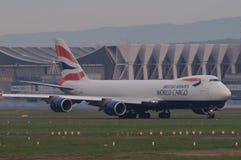 brittisk lastvärld för flygbolag Royaltyfri Fotografi