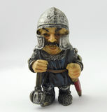 Brittisk medeltida statyett för leksaksoldat Arkivfoto