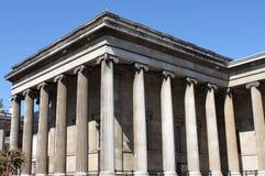Brittisk museumfacade Arkivfoto