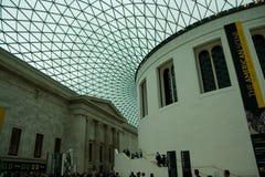 Brittisk museuminrekorridor Arkivbild