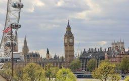 Brittisk parlament i Westminster, London Fotografering för Bildbyråer