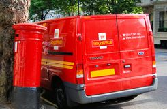 Brittisk postlastbil Royaltyfri Bild