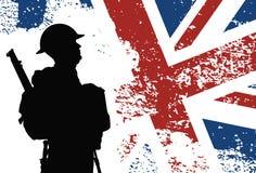 Brittisk soldat WWII vektor illustrationer