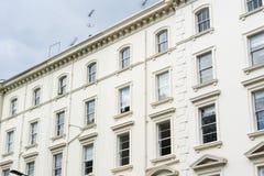 Brittisk stilbyggnad, södra Kensington, London arkivbilder