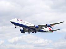brittisk stråljumbo för flygbolag Royaltyfri Foto