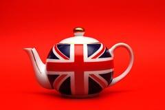 brittisk teapot Royaltyfri Fotografi