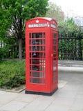 brittisk telefonred för bås Arkivfoto