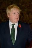 Brittisk utrikesminister Boris Johnson i officiellt besök till Serbien royaltyfri fotografi
