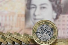 brittisk valuta Arkivbilder