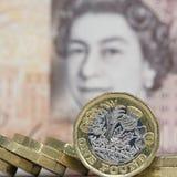 brittisk valuta Royaltyfri Bild