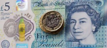 Brittisk valuta 2017 Fotografering för Bildbyråer