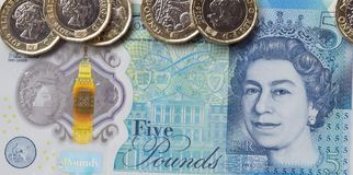 Brittisk valuta 2017 Arkivbild