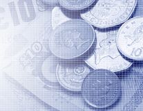 brittisk valuta Royaltyfri Fotografi