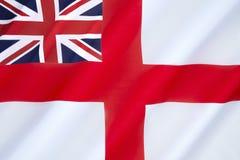 Brittisk vit flagga Arkivbilder