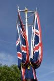 Brittiska fackliga flaggor på gallerian London england Royaltyfri Foto