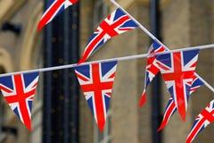 brittiska flaggor Fotografering för Bildbyråer
