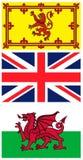 brittiska flaggor Royaltyfri Fotografi