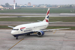 brittiska flygbolag Arkivfoto