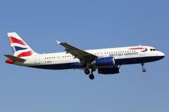 brittiska flygbolag för flygbuss a320 Arkivfoto