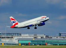 brittiska flygbolag för flygbuss a319 Royaltyfri Bild