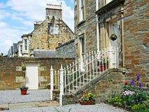 Brittiska gammala hus Arkivbilder