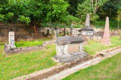 Brittiska Garrison Cemetery, Kandy Royaltyfri Bild