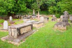 Brittiska Garrison Cemetery, Kandy Arkivbild