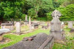 Brittiska Garrison Cemetery, Kandy Royaltyfri Foto