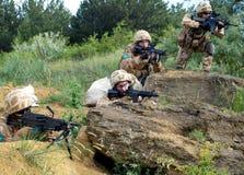 brittiska gruppsoldater Royaltyfri Foto