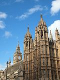 Brittiska hus av parlamentet, London Arkivfoto