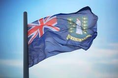 brittiska jungfruliga flaggaöar Arkivfoto