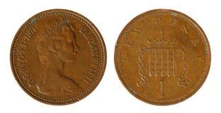 brittiska mynt Arkivbild