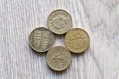 brittiska mynt Royaltyfri Bild