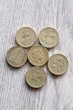 brittiska mynt Arkivfoto