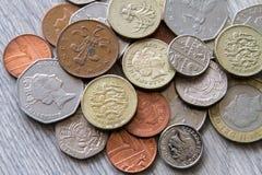 brittiska mynt Royaltyfria Foton