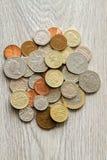brittiska mynt Fotografering för Bildbyråer