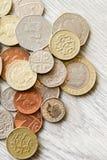 brittiska mynt Royaltyfri Fotografi
