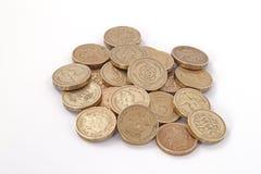 brittiska mynt pound uk Royaltyfria Bilder