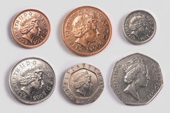 brittiska mynthuvud Arkivbilder