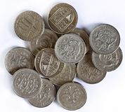 brittiska myntpund Arkivfoto