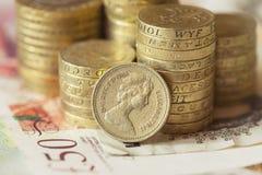 Brittiska pengar arkivfoton