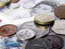 brittiska pengarpund arkivbild