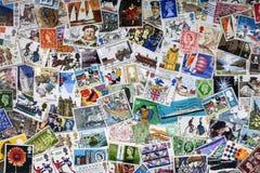 Brittiska portostämplar - filateli Royaltyfria Bilder
