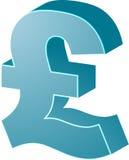 brittiska pund vektor illustrationer