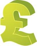 brittiska pund stock illustrationer