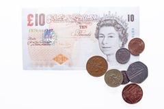 Brittiska pund ett pund sterling. Fotografering för Bildbyråer