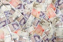 brittiska pund för bakgrund Royaltyfri Fotografi